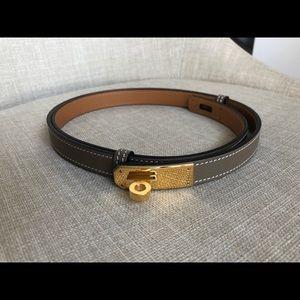 Hermès Kelly Belt Étoupe